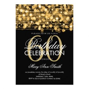 th birthday invitation elegant th birthday party sparkles gold invitation rcebfcebfcdddf imtzy byvr