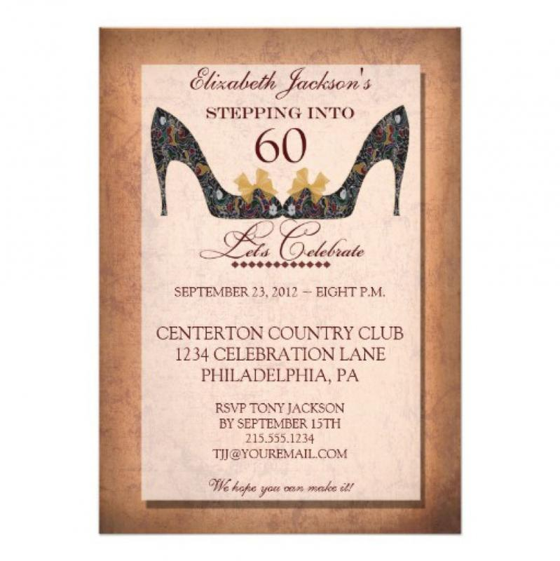 60th birthday invitation