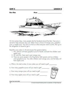 th grade algebra problems boat ride