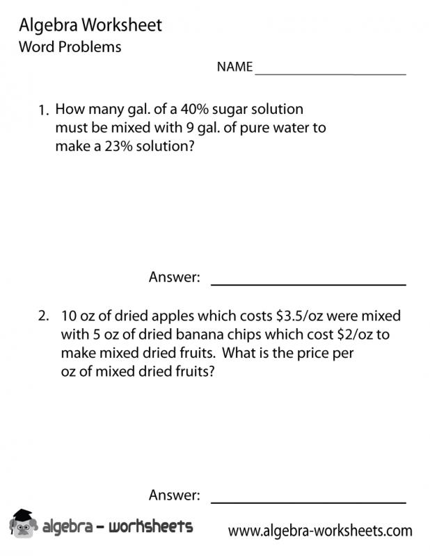 7th Grade Algebra Problems | Template Business