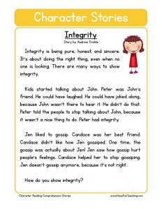 th grade algebra worksheets free character education reading comprehension integrity