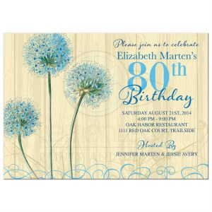th birthday party invitations rectangle vintage blue floral th birthday invitation front