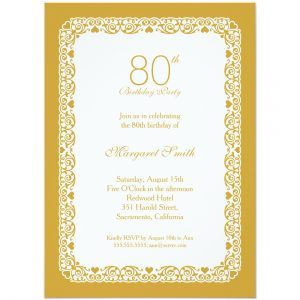 th birthday party invitations elegant lace th birthday party invitations choose your own colors