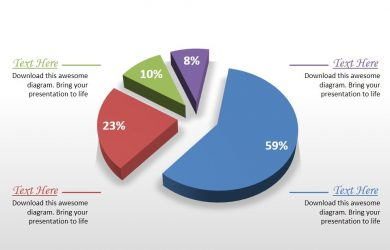 day action plan business comparison pie chart powerpoint graph slide