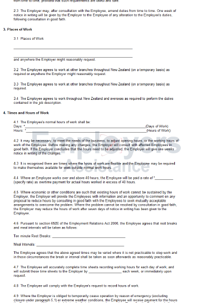 90 day probationary period template template business for Terms of employment contract template