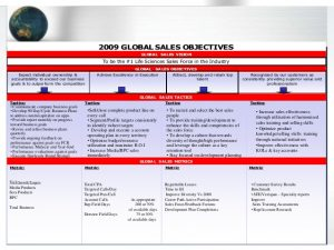 day review template example global life sciences commercial strategy plan
