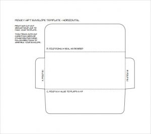 a envelope template money gift envelope template