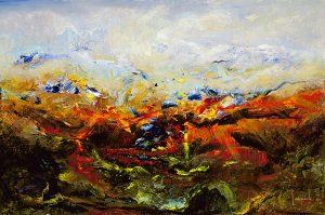 abstract oil painting dario campanile cielo mare terra
