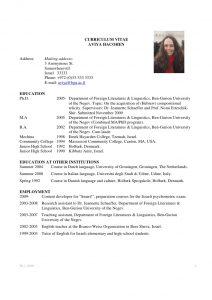 academic curriculum vitae slide
