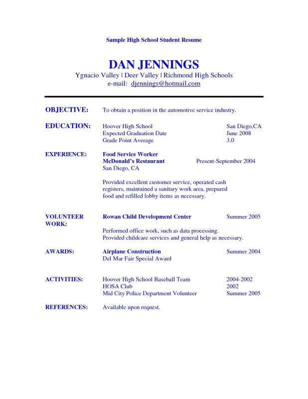 academic resume template