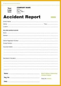 accident report form accident report sample form motor accident report form