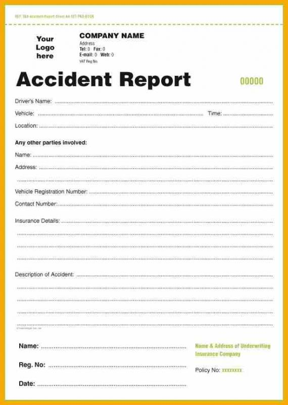 vehicle accident report form vehicle ideas