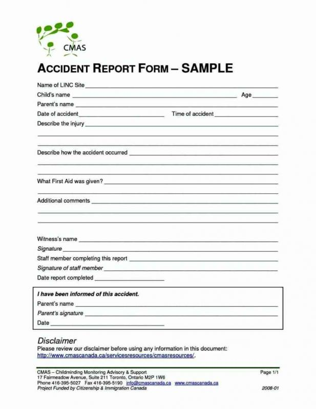 accident reporting template