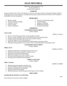 accounting resume template team lead management resume full