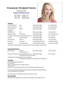 acting resume template loaded acting resume 1 21 2013 rev format