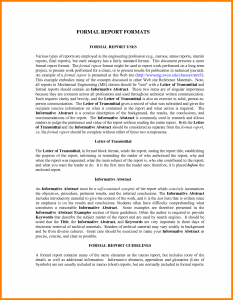 action plan formats formal report writing example formal report format example