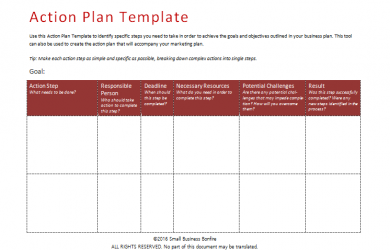 action plan template 746572 action plan template an easy way to plan actions