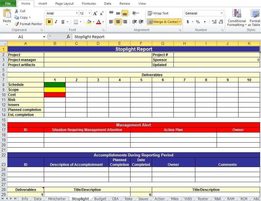 Action Plan Template Excel | Template Business