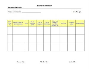 action plan template word rework format kaizen template