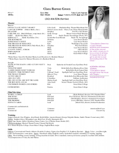 actors resume template free acting resume samples and musical theater template sample