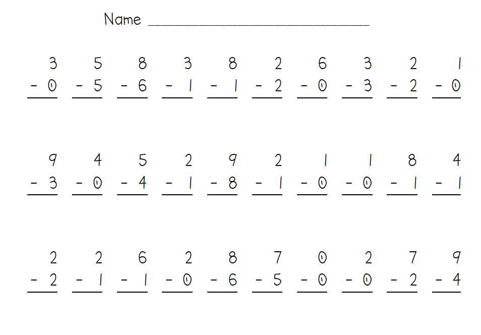 Addition And Subtraction Worksheets | Template Business