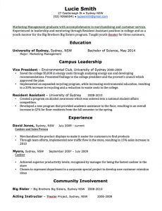 Administrative Assistant Resume Templates Great Resume Template For Recent  Graduates With List Campus Leadership  What A Great Resume Looks Like