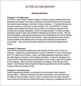 after action report sample after action report