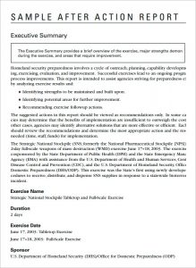 after action report sample after action report template
