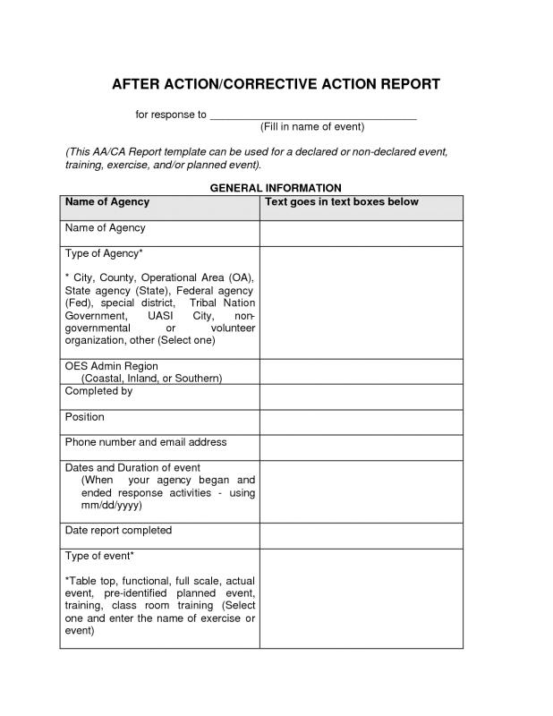Amazing After Action Report Template