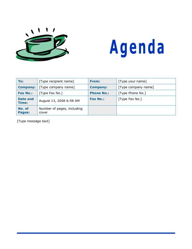 Agenda Template Free  Free Agenda Templates For Meetings