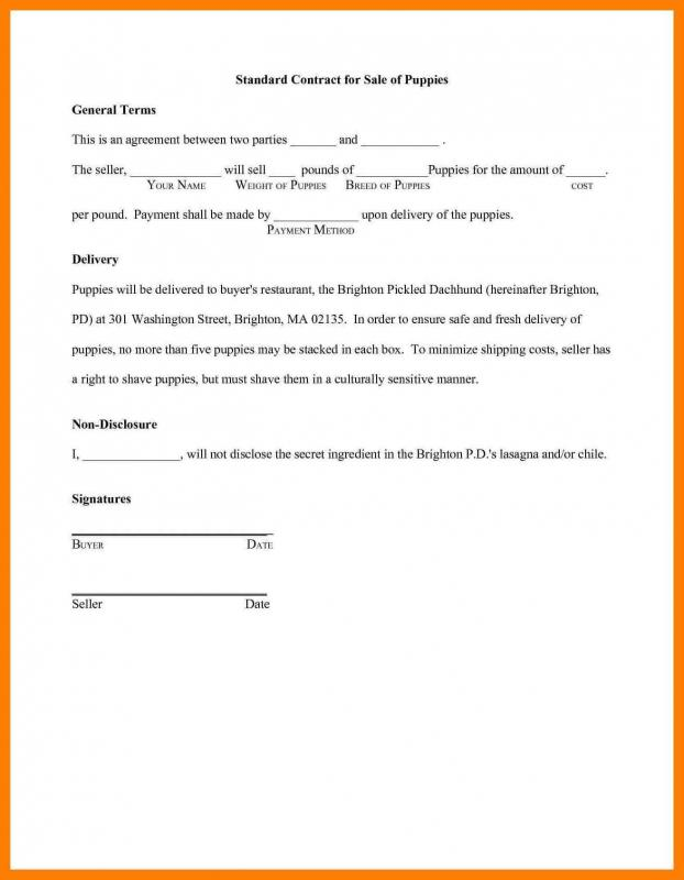 Agreement Letter Between Two Parties  Template Business