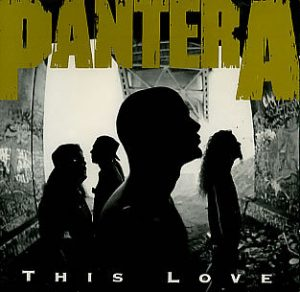 album cover template pantera this love single