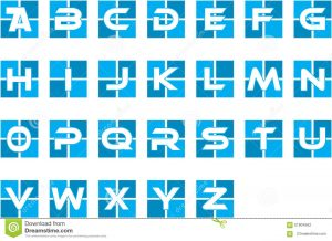 alphabet letters template blue initial alphabet corporate logo pick your letter template