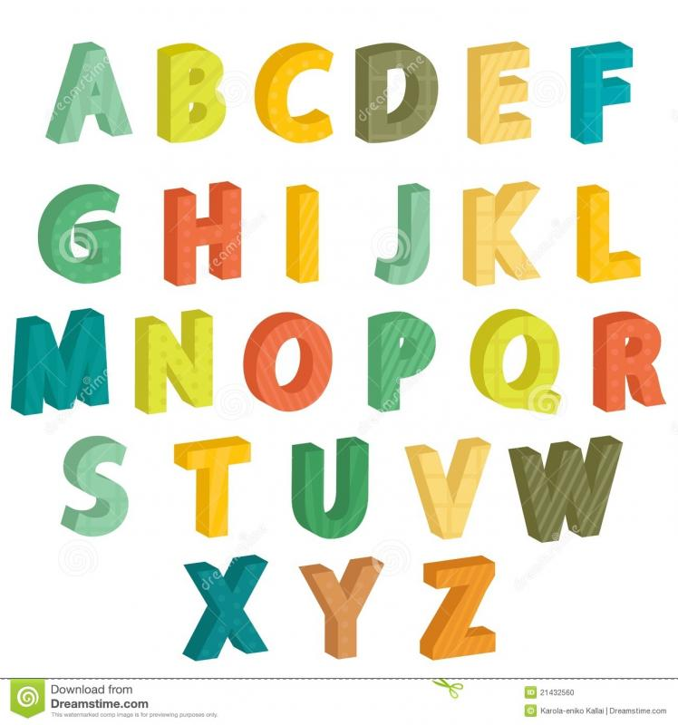 alphabet letters to color