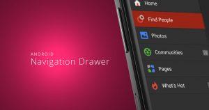 android app template android navigation drawer slider menu