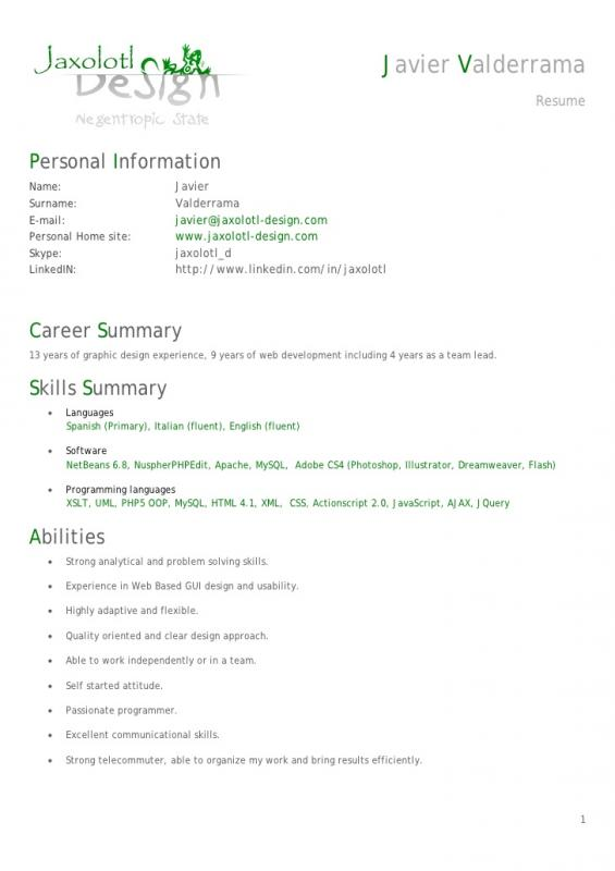 Android Developer Resume Template Business