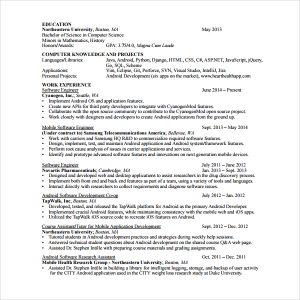 android developer resume sample android developer resume