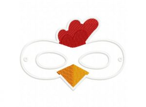 animal masks template chicken mask x hoop
