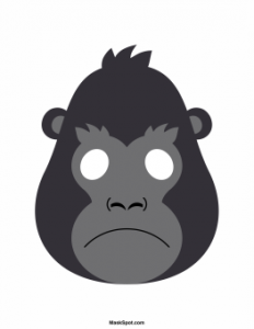 animal masks template gorilla mask