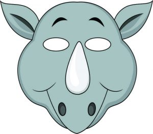 animal masks template vbs jungle animal mask rhino color