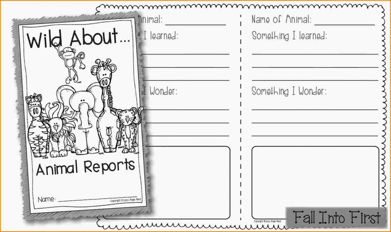 animal report template