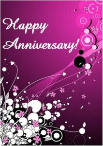anniversary card template anniversary card