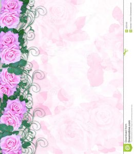 anniversary invitation template wedding invitation pink roses