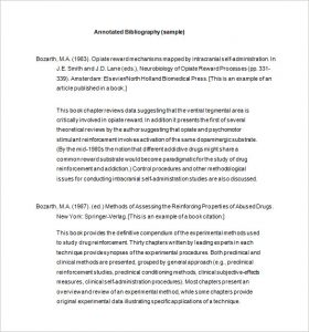 annotated bibliography template annotated bibliography template word