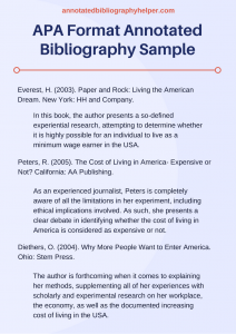 annotated bibliography template apa apa format annotated bibliography sample