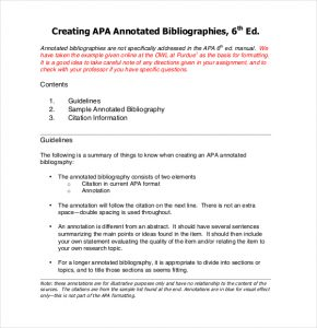 annotated bibliography template apa sample free apa annotated bibliography template