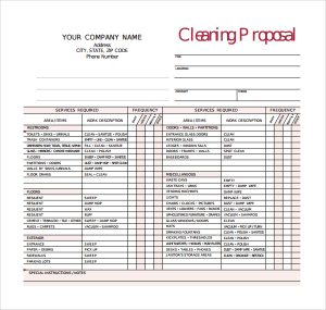 apartment checklist pdf window cleaning proposal template