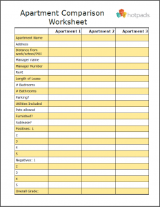 apartment checklist pdf worksheetnew