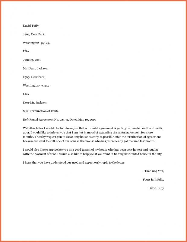 Apartment Lease Termination Letter  BesikEightyCo