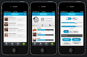app design template ios fitness app design template